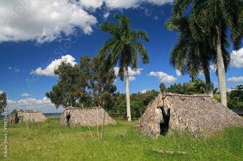 Reconstruction of a Taino village, Zapata Peninsula, Cuba Fototapeta