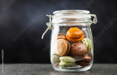 Canvas Print Assortment of macaron cookies