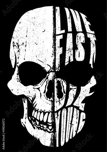 Skull tee graphic design Canvas Print