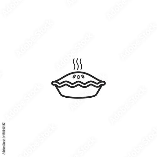 Tablou Canvas pie icon. sign design