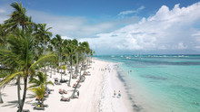 Aerial Panoramic View Of Bavaro Beach, Punta Cana, Dominican Republic