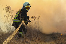 Picture Of Firefighters Battle...