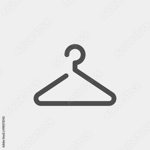Valokuva Hanger flat vector icon. Clothes rack flat vector icon