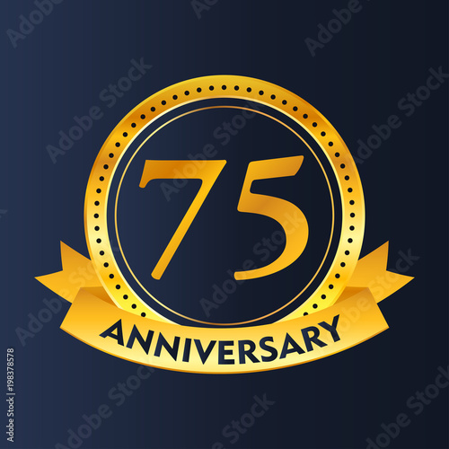 75 years of celebrations vector Poster