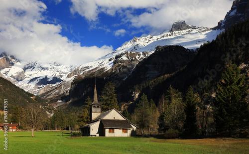 Foto op Aluminium Grijze traf. Kandersteg Resort in Switzerland, Europe
