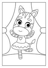 Coloring Book, Zebra