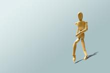Wooden Mannequin In A Running ...