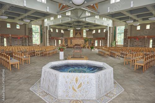 baptismal font Tapéta, Fotótapéta