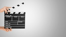 Clapperboard.