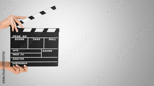 Canvas Print Clapperboard.