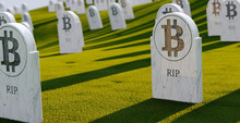 Cemetery With Bit Coin Graves....