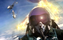 Pilot Cockpit View During Air To Air Combat