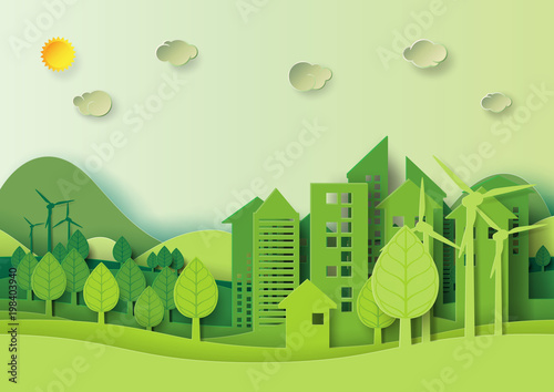 Ecology And Environment Conservation Creative Idea Concept