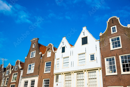 Photo  Famous facades of the beguinage in Amsterdam