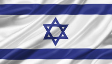 Israel Flag Waving With The Wi...
