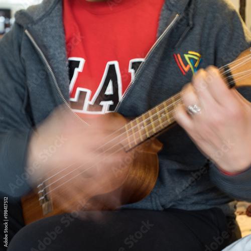 Fototapeta Playing the Eukulele