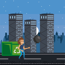 Pixelated Urban Videogame Scenery For Fight Vector Illustration Graphic Design
