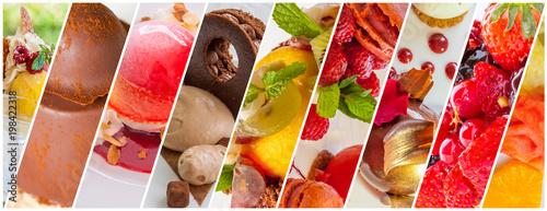 Fotografía  collage de desserts