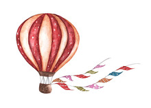 Vintage Hot Air Balloon With F...