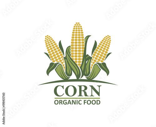 colored farm corn vegetable emblem Tapéta, Fotótapéta