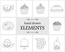 Hand Drawn Logo Elements And I...