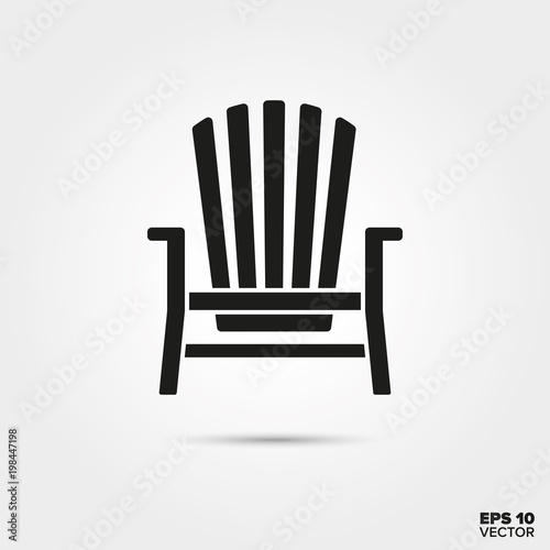 Adirondack deck chair vector icon Canvas Print
