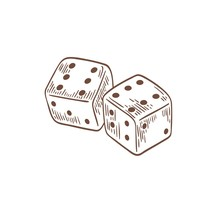 Pair Of Dice Lying With Sixes ...
