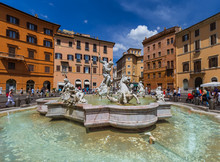 Fountain In Piazza Navona - Rome Italy