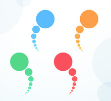 Abstract Colorful Flat Circle ...