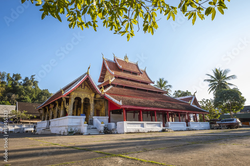 Foto op Aluminium Bedehuis Beautiful temple in Luang Prabang, Laos