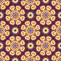 Abstract stylized floral seamless pattern. Hand drawn vector illustration