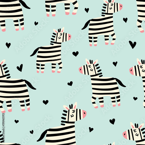 plakat zebra pattern