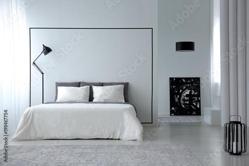 Minimalistic Bedroom Interior Kaufen Sie Dieses Foto Und Finden Magnificent Minimalistic Bedroom
