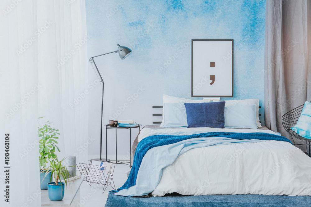 Romantisches Schlafzimmer Interieur Foto, Poster, Wandbilder ...
