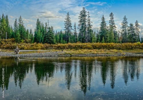 Photo  Grand Teton National Park, Wyoming, USA - September 18, 2015: Reflection of the