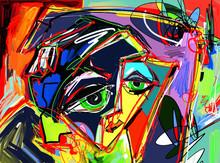 Original Abstract Digital Pain...