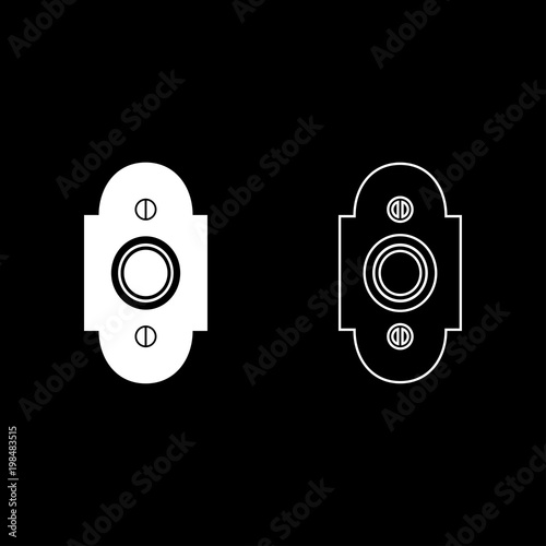 Obraz na plátně  Doorbell icon set white color illustration flat style simple image