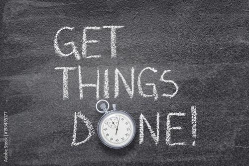 Fotografie, Obraz  get things done watch