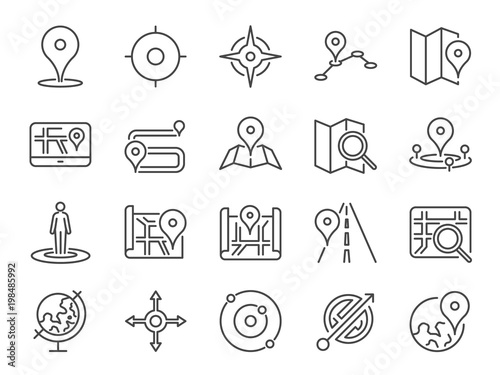Fotografia  Map icon set