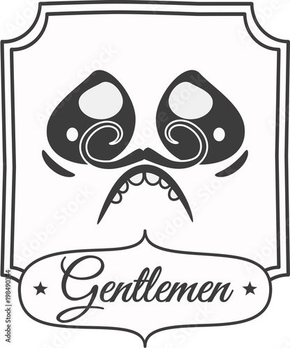 A Black And White Bathroom Sign With Newspaper Style A Gentleman Delectable Bathroom Sign Vector Style