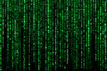 Abstract Background, Digital Data , Green Matrix