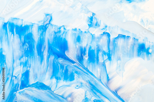 Foto op Aluminium Fantasie Landschap Abstract blue color texture, hand painted background