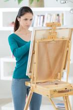 Female Artist Drawingpainting ...