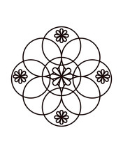 Celtic Knotwork 2 Circles And Flowers