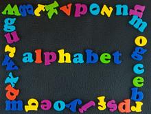 Alphabet Written Word.Frame Of...