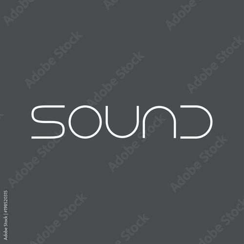 Fototapety, obrazy: Logotipo SOUND en color blanco