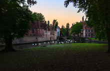 Channels Of The Old City Of Bruges. Belgium.