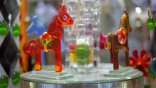 Glass Horses Turning Around. C...