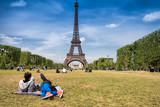 Fototapeta Fototapety z wieżą Eiffla - Eiffel tower background