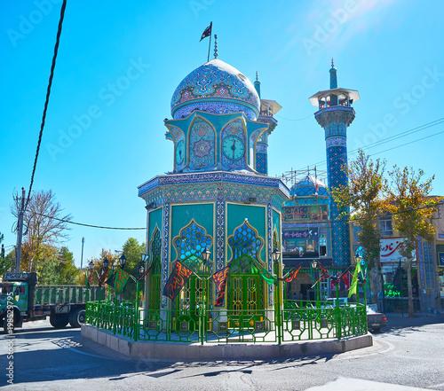 Fotografie, Obraz The cityscape of Rayen, Iran